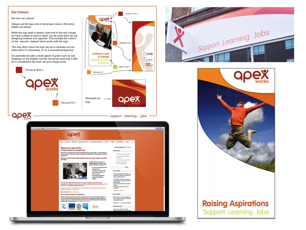 We supported APEX Works through a period of major transformation, engaging with staff and service users to develop a new brand, external marketing tools and internal communications. We also secured media coverage, managed social media accounts, and helped with fund raising for the charity.