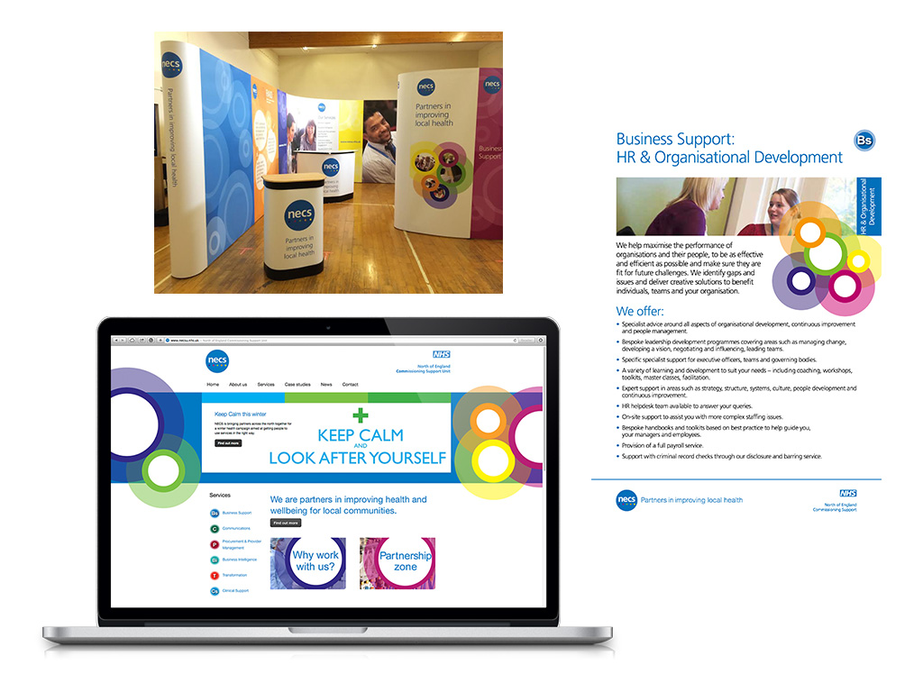 We supported North of England Commissioning Support Unit, a new NHS body, with their corporate marketing strategy. This included delivering a range of support including branding, website, brochures, exhibition equipment and events.