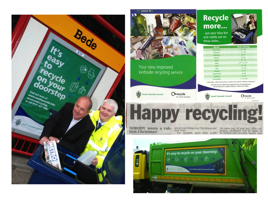 We supported South Tyneside Council on a major project to introduce a new recycling scheme and improve recycling rates. We delivered an integrated marketing and PR campaign including events, competitions, media coverage, website content, leaflets and advertising.