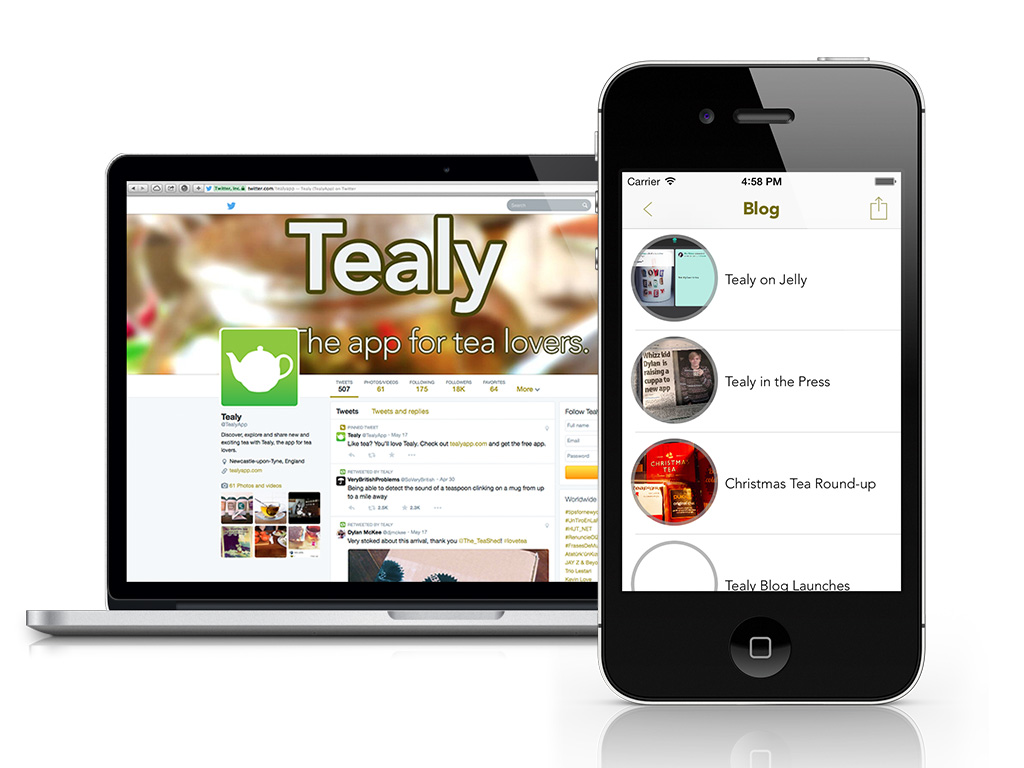 We worked with social networking start up Tealy to manage their social media presence, engage with related businesses and build relationships with them. We also undertook copywriting for their corporate blog and developed a marketing strategy.